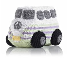 Pebble fair trade and hand made, cotton crochet Camper Van. Machine washable and suitable from birth. Crochet Car, Cotton Crochet, Crochet Toys, Crochet Animals, Cool Mom Picks, Baby Rattle, Doll Accessories, Baby Knitting, Knitted Baby