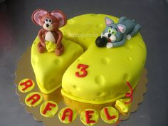 Tom & Jerry Birthday Cake - Wheel Cake@Deb Nelson