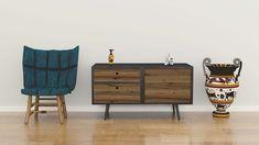 RoHol - The Austrian Wood Composer Entryway Bench, Cabinet, Interior Design, Storage, Wood, Home Decor, Oak Tree, Interior Architecture, Interior