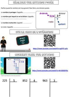calcul CE2 | Le BLOG de Monsieur Mathieu Division Posée, Multiplication Posée, Activities, Blog, Arabesque, Mental Calculation, Maths Tricks, Blogging