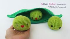 Peas in a Pod PDF Crochet Pattern by jaravee on Etsy