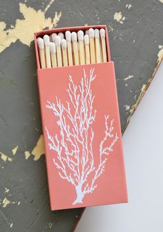 Coral Embossed Match Box