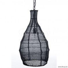 "J-Line Metalen hanglamp met vlas konisch zwart metaal ø35 <span style=""font-size: 0.01pt;"">Jline-by-Jolipa-53612-industriele-lamp-lamp-industrieel-lampe-industrielle-online-landelijke-stijl-ind</span>"