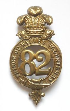 British; 82nd Regiment of Foot (Prince of Wales's Volunteers), other Rank' Glengarry Badge, 1874-1881(In 1881 formed 2nd Battalion Prince of Wales's Volunteers (South Lancashire Regiment)).