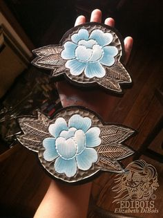 Blue Roses Woodcarvings by EDiBois