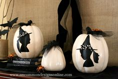 DIY Silhouette Pumpkins by Uncommon Designs