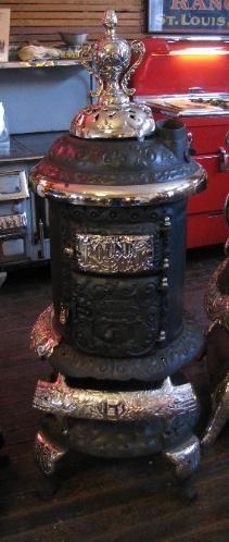 Mill Creek Antiques - Paxico, Kansas Wood Burning Furnace, Antique Stove, Vintage Stoves, Mill Creek, Kansas, Jar, Antiques, Home Decor, Antiquities