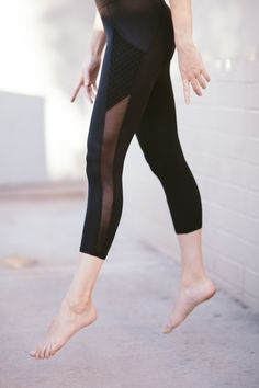The mesh details. Incredible legging from Bandier.