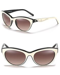 JUST cavalli Cat Eye Sunglasses with Studs | Bloomingdale's