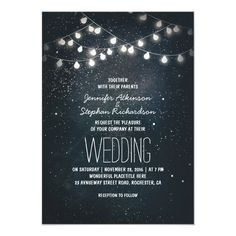 Shop string lights and night sky stars engagement party invitation created by jinaiji. Personalize it with photos & text or purchase as is! Rehearsal Dinner Invitations, Engagement Party Invitations, Vintage Wedding Invitations, Wedding Invitation Cards, Wedding Cards, Invitation Envelopes, Vintage Weddings, Wedding Invitation Wording Examples, Invitation Fonts