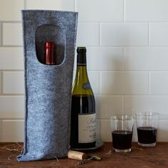 Felt Wine Bottle Carrier | west elm