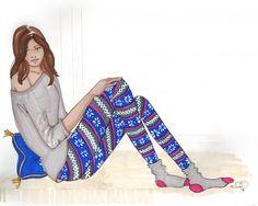winter tights illustration