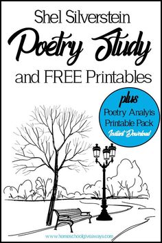 This Shel Silverstein Poetry Study (plus FREE printables and Poetry Analysis Pack) can help you bring his poetry to life for you kids. Teaching Poetry, Teaching Language Arts, Teaching Reading, Learning, Poetry Unit, Writing Poetry, Poetry Lessons, Math Lessons, Poetry Quotes