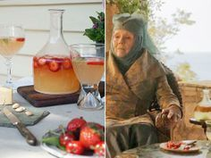Make strawberry lemonsweet for your 'Game of Thrones' viewing party.  http://greatideas.people.com/2014/04/04/game-of-thrones-season-four-party-recipes/