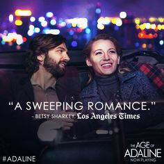 This weekend, discover the incredible love story everyone is falling for… The Age of #Adaline is NOW PLAYING! Tickets: http://lions.gt/adalinetix
