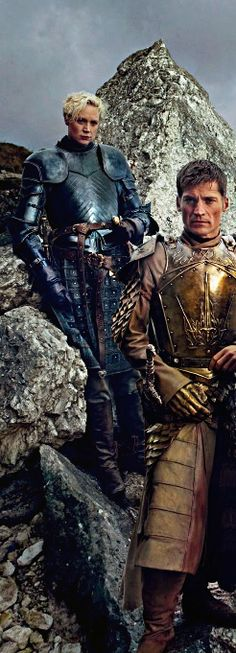 Jamie Lannister and Brienne of Tarth: Game of Thrones Season 4