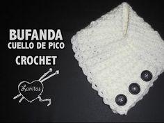 Mis Pasatiempos Amo el Crochet: 8 Tutoriales cuellos tejidos en dos agujas y crochet