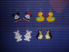 hama beads animals earrings