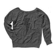 Black Metallic Geometric Bolt Sweatshirt