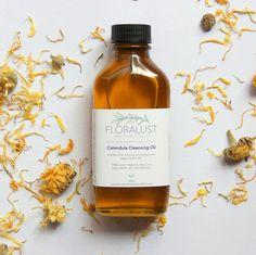 Calendula Cleansing Oil // Organic Argan Oil, Jojoba Oil + Avocado Oil Cleanser   Natural, Vegan Skincare