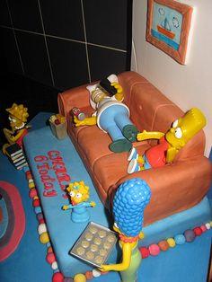 Simpsons cakes