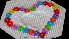 hama beads picture frame heart mothers day