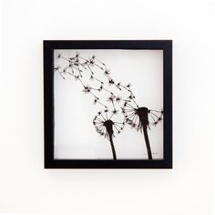 paper cut dandelion