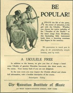 Be popular ... play ukulele!