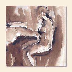 """20 Me gusta, 2 comentarios - Erika Brandner (@ekadeko) en Instagram: """"Más de la serie Mujerentrazo...está fémina Sentada...Tinta sobre Papel. 20 x 20 cm"""""""