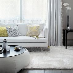 grey, yellow + couch