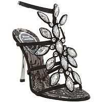 RENE CAOVILLA   Unique Black Crystals Sandal
