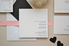 Wedding Invitation Sample  The Natalie Suite by simplicitypapers