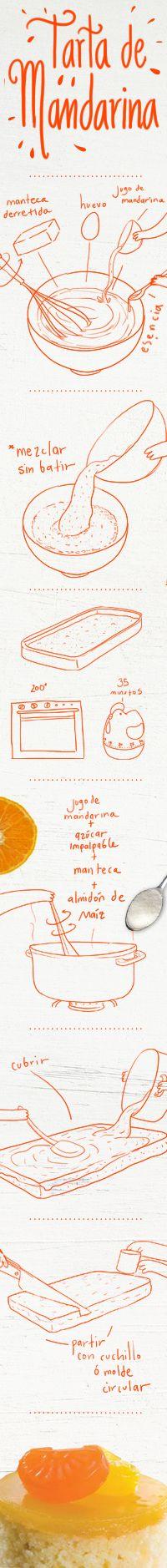 INGREDIENTES  Para la masa  2 ¼ tazas de harina  3 cdtas. de Polvo Royal  ½ cdta. de sal  1 taza de azúcar  1 huevo  1 taza de jugo de mandarina  3 Cdas. de manteca  1 cdta. de esencia de vainilla   Para cubrir  1 taza de jugo de mandarina  ¾ taza de azúcar impalpable  1 Cda. de manteca  2 Cdas. de almidón de maí