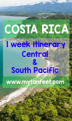 Looking for an easy 1 week itinerary for your trip to Costa Rica? Check this one out that goes to the Central and South Pacific along with a day in San Jose city. Great for first timers as it's an easy drive to all the destinations and visits beautiful beaches and rain forest!