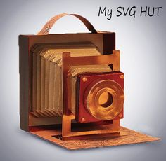 A 3D Vintage Camera This is a digital download for use with electronic cutting machines, Assembly instructions can be found in the link here