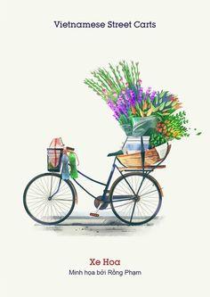 Vietnam Street Cart on Behance Indian Illustration, Travel Illustration, Anime City, Indian Art, Cute Drawings, Vector Art, Illustrators, Street Art, Art Gallery