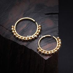 Covet Jewelry Bali Ball Steel Bendable Nose Hoop