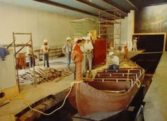 The First boat being installed on Maelstrom Norway Pavilion Epcot Center via vintagedisneyparks