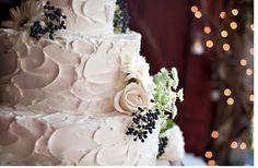 Fresh Fall Flower Cascade Square Wedding Cake triflescakes ...
