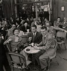 Maxims' Paris .1950. The age of austerity was never really austere for everybody.