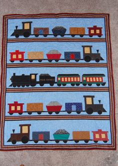 Taylor's train quilt. @Terri Osborne McElwee Rippy