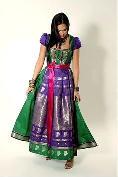 Saree Dirndl by Silk & Pearls #fashion #style #dirndl