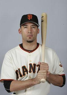This is a 2015 photo of Travis Ishikawa of the San Francisco Giants baseball team.