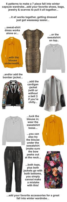...they all work together, you could literally get dressed in the dark with this... http://www.hotpatterns.com/fall-into-winter-mini-capsule/