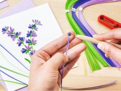 Get crafty with an advanced paper quilling kit. Everything you need to make your own rolled paper cards is included. Find out how you can access tutorials, too. Paper Quilling Flowers, Paper Quilling Designs, Quilling Cards, Quilling Supplies, Quilling Ideas, Quilling Patterns, Craft Kits, Diy Kits, Craft Ideas
