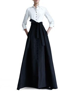 Carolina Herrera Shirtwaist Taffeta Ball Gown