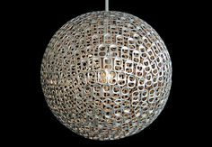 Upcycling soda can tabs into lamps