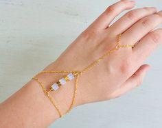 Boho Hand Chain Bracelet As Seen on Alvina by oohjacquelina