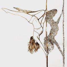 Julia Prusi: Poledance #inktober2016 Illustration Art, Illustrations, Drawing Challenge, Pole Dancing, My Arts, Sketches, Portrait, Drawings, Instagram Posts