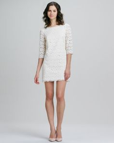 Constance Lace Shift Dress by Shoshanna at Neiman Marcus.